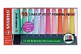 Stabilo Boss - Subrayador de escritorio (10 unidades), color pastel