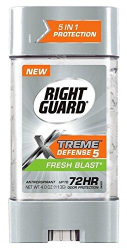 Right Guard Total Defense Anti-transpirant Déodorant Gel Puissance fraîche souffle 4 oz (Paquet de 4)