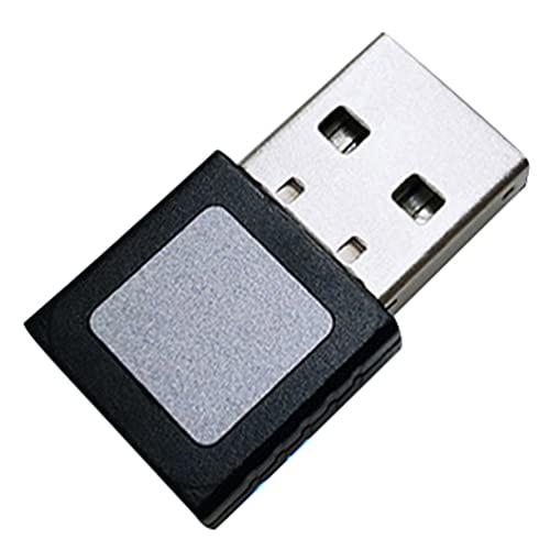 SOLUSTRE - Lector de huellas digitales USB para Windows 10, lector de huellas digitales, escáner de seguridad Windows con llave biométrica de paso, envío para ordenador portátil