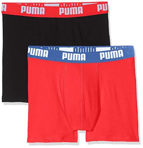 Puma Jungen Basic Boxer 2p Unterhose, (Red/Black 786), 13-14 Jahre (Herstellergröße: 164) (2er Pack)