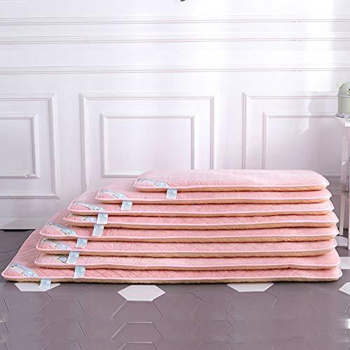 LYXCM Baby Matratze, Einzelbettmatratze Für Dicken Schlaf Kriechmatte Für Neugeborene Matratze Für Futons (Farbe: Pink),70 * 140cm