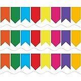 Banderines coloridos para pizarrón blanca, decoración festoneada, 11 m