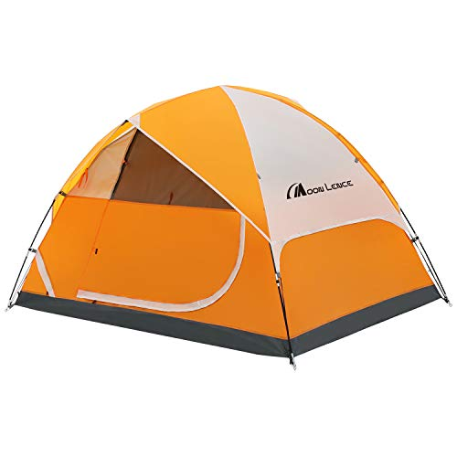 Moon Lence Camping Tent 2/4/6 Person Family Tent Double Layer Outdoor Tent Waterproof Windproof Anti-UV(4 Perosn Tent)