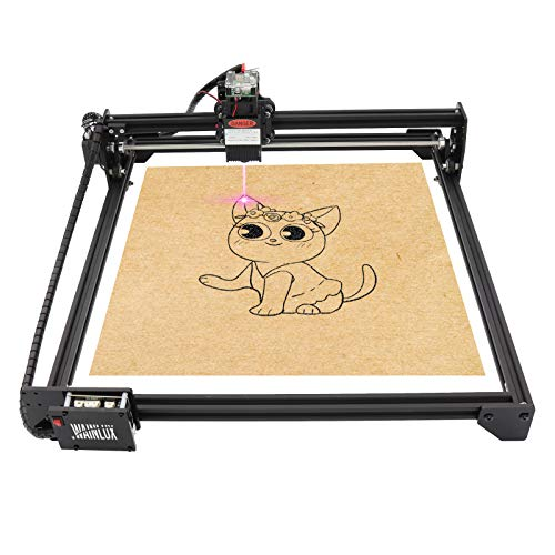 """WAINLUX JL3 Laser Engraver, 7W, 20W Laser Engraving Cutting Machine, Large Area Engraving 16.1""""x14.5"""", Support Win/MAC/OS/Mobile WiFi Connection, Apply to Wood, Bamboo, Acrylic, Leather (7W)"""