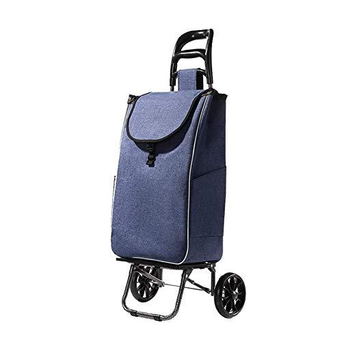 Syxfckc Treppensteigen Wagen Auto Gepäckanhänger einkaufen fortgeschrittene sechs stilvolle tragbare Falten Einkaufstasche wasserdicht (Color : A)