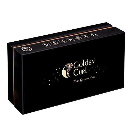 Golden Curl Haarglätter & Lockenstab Kit – Professionell Fortgeschrittenes Dual Voltage Mini Salon Set für alle Haartypen – außergewöhnliche 5-Jahres Garantie (Spitzen Muster) - 4