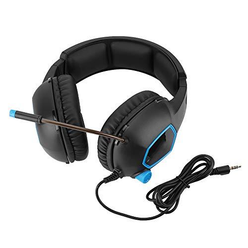 Dpofirs Casque de Jeu Filaire, Casque avec Microphone à réduction de Bruit pour Ordinateur Portable PS4