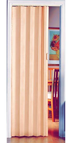 Puerta plegable de alta calidad con efecto de madera de pino natural