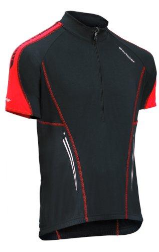 BERKNER Maglia da ciclismo modello Nathan, nero/rosso, XXXXL / 4XL