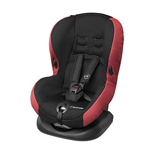 Maxi-Cosi Priori SPS + Kindersitz mit optimalen Seitenaufprallschutz und 4 Sitz- und Ruhepositionen, Gruppe 1 (9-18 kg), nutzbar ab 9 Monate bis 4 Jahre, Pepper Black (rot/schwarz)