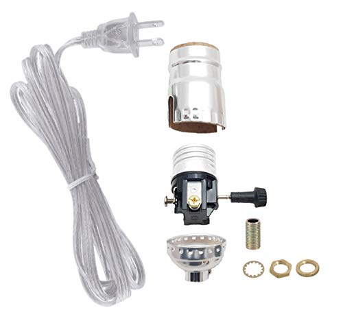 B&P Lamp Nickel Plated Socket with Matching Cord Set and Basic Hardware