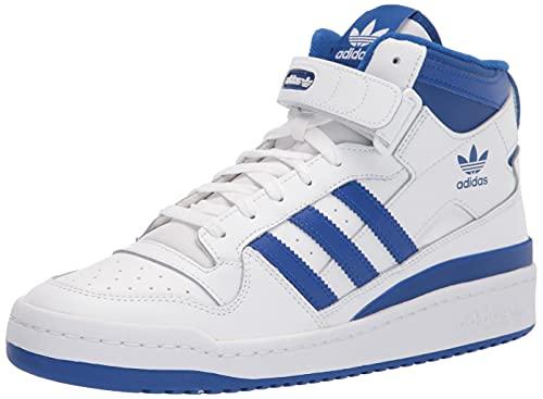 adidas Originals Women's Forum Mid Sneaker, White/Team Royal Blue/White, 11