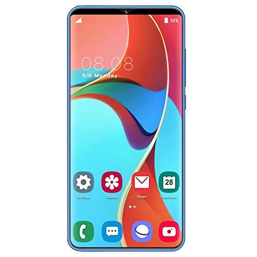 Gaetooely S23 Pantalla Completa de 6.1 Pulgadas 1Gb + 8Gb TeléFono MóVil TeléFono Inteligente TecnologíA de Reconocimiento Facial TeléFono Inteligente (Enchufe Azul de la UE)