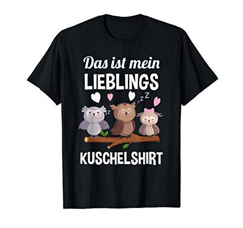 Lieblings Kuschelshirt - Frauen Eule Nachthemd Eulen T-Shirt