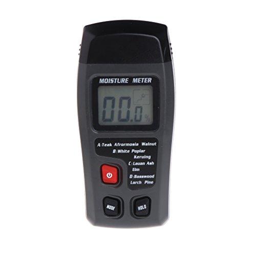 Qiman Holzfeuchtigkeitsmesser-Analysator-Feuchtigkeits-Prüfvorrichtung-Holz-Feuchtigkeitsprüfer-Hygrometer 2 Pin