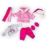 Bayer Design Puppenkleidung für 40-46cm Puppen, Winterset, Winterjacke, Hose, Mütze, Shirt mit...