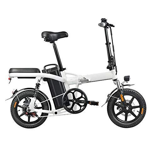 Maybesky-sp Fahrrad elektrisches Klapprad Erwachsene Mountain E-Bike-48V 350W 20Ah Folding Elektro-Moped-Fahrrad 14 Zoll 25 km/h Höchstgeschwindigkeit 3-Gang Leistung steigern Elektro-Fahrrad