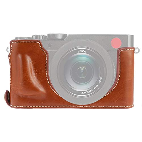 ZAORUN Camera Half Body Cover Base, 1/4 inch Thread PU Leather Camera Half Case Base Compatible for Leica DLUX TYP 109 (Color : Brown)