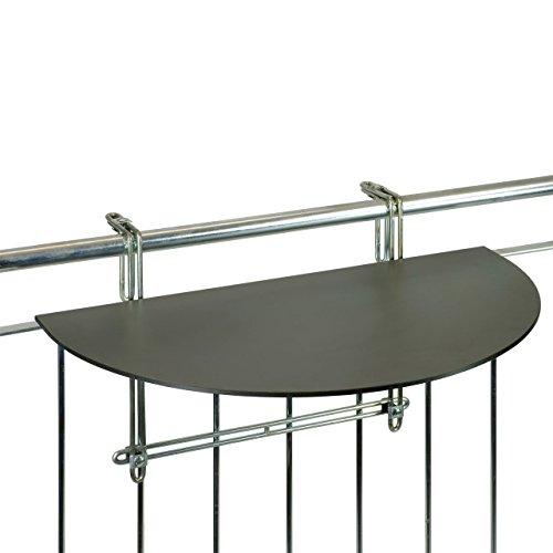 VIDEX GmbH & Co. KG Balkonklapptisch, Balkon-Hängetisch mit HPL-Platte, anthrazit, 43 x 75cm