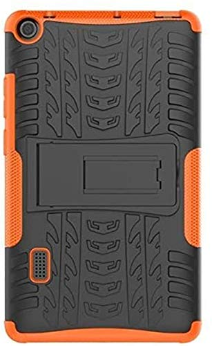YNLRY Tab Accessories for Huawei Mediapad T3 7 WiFi BG2-W09 7.0 Inch Case TPU+PC Plastic Hybrid Armor Hard Shock Proof Back Cover (Color : Orange)