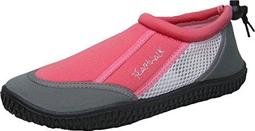 Bockstiegel Kinder Damen Neoprenschuhe Sylt Badeschuhe Wasserschuhe, Farbe:rosa, Größe:32 EU