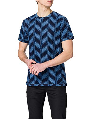 Desigual TS_Candido Camiseta, Azul, L para Hombre
