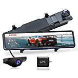 JOMISE G810 Mirror Dash Cam for Cars, FHD 1080P 11' Touch Screen Front and Rear Dual Lens Dash Camera, Enhanced Night Vision with Sony Starvis Sensor, GPS, G-Sensor, Parking Assistance, Loop Recording