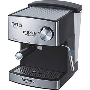 Bastilipo Mokka Expreso 20 Cafetera Express, 850 W, 2 litros, Acero Inoxidable,