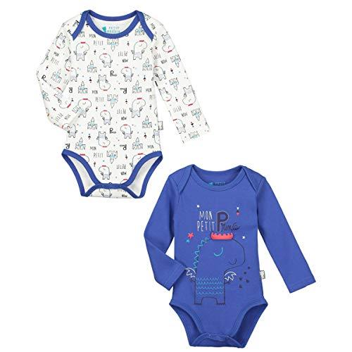 Lot de 2bodies manga larga bebé niño pequeño Príncipe–Talla–9meses (74cm)