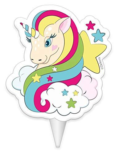 Vela de cumpleaños unicornio 8 cm