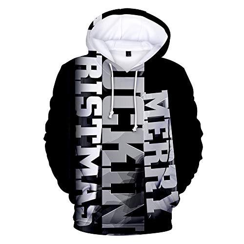 x8jdieu3 3D Weihnachten Schneemann Digitaldruck Paar Hoodie Pullover Warm Top Sweatshirt Weihnachten Schneemann