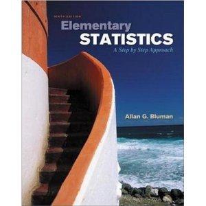 Elementary Statistics 6th  sixth  edition byBluman