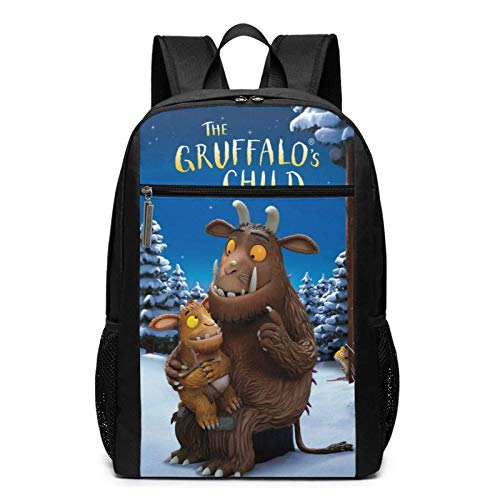 Lsjuee The Gru-Ffalo Men Backpack Lightweight Multi-Function College School Bookbag