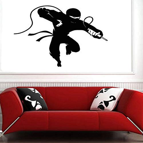 Apliques Kendo Sticker Samurai Decal Japan Ninja Poster Vinyl Art Tatuajes de Pared Decoración de Pared Mural Kendo Sticker XCM