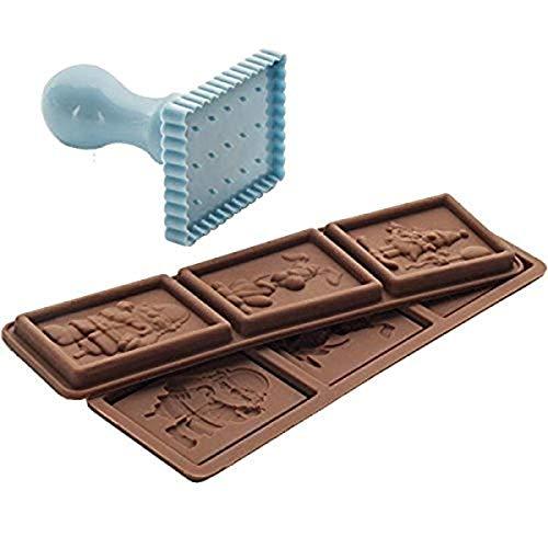 Ibili 793700 Kit Petit Choc Kids Emporte-Pièces + 6 Moules Plastique/Silicone