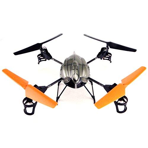 efaso V222 v959 Upgrade Edition -6 Achs Gyro 4 Kanal 2,4 GHZ Quadrocopter mit Kamera LED ´S und Profi-Fernbedienung, auf Mode 1, 2,3 und 4 umschaltbar, zusätzliche LED Beleuchtung an den Auslegern