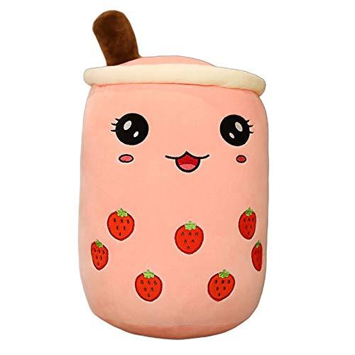Bubble Tea Plüsch-Spielzeug, Tee-Blase, Tee, Milch, Tee, Plüsch-Kissen, kreatives Boba Bubble Teetasse, Puppenkissen, Schlafkissen, weiches Kissen für Kinder, Mädchen, Heimdekoration, Geschenk