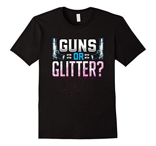Guns Or Glitter Gender Reveal T Shirt 21497