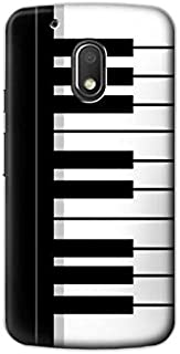 R3078 Black and White Piano Keyboard Case Cover For Motorola Moto G4 Play