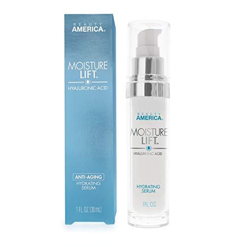 Beauty America Moisture Lift, Anti-Aging, Hyaluronic Acid, Hydrating Serum, 1 Fl Oz