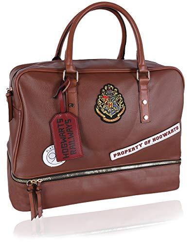 Brown, Faux Leather, Travel Bag Platform 9 3/4 HOGWARTS HARRY POTTER
