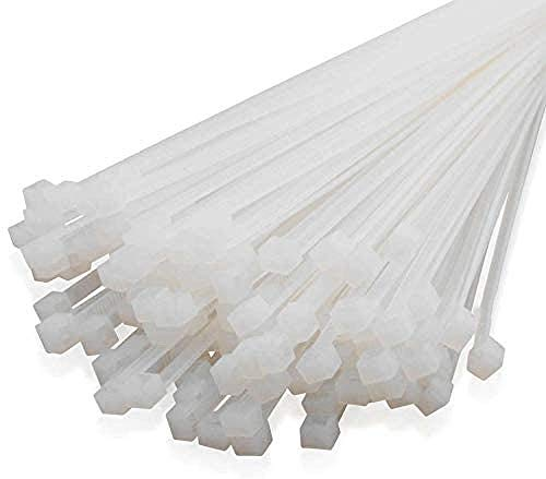 Sujetacables de nylon Sujetacables de color blanco Sujetadores de cable de nylon autoblocantes Sujetadores de cable negros Lazo de fijación Varias especificaciones -500 Pcs-White_300x_2.7mm