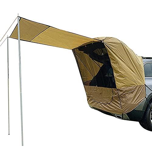 Toldo para Automóvil - Refugio para El Sol, Toldo Impermeable para Camper, Toldo para Puerta Trasera, Toldo, Techo para SUV, Hatchback, Sedán, Camping, Al Aire Libre