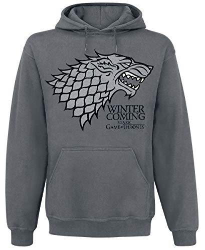Game Of Thrones Winter is Coming - sudadera Hombre, Gris (Charcoal), M