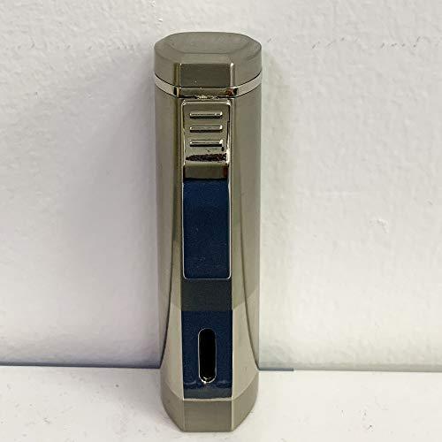 IEIK Torch Lighter, Refillable Triple Jet Flame Lighter, Adjustable Butane Lighter in Pocket Size, Heavy-Duty Zinc Alloy Lighter Gift for Men (Butane Not Included)(Glod)
