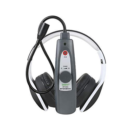 JDH Ultraschall-Lecksucher, Luft-Wasser-Flüssigkeitsdruck-Vakuumsystem-Lecktester mit Kopfhörer-Zubehörsatz zur Erkennung von Undichtigkeiten an verschlossenen Fenstertürbehältern