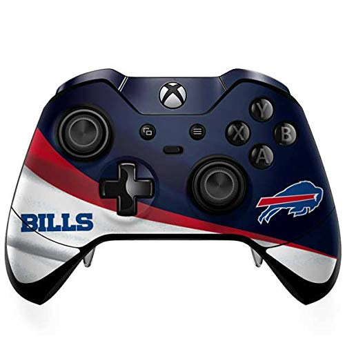 Skinit Decal Gaming Skin Compatible with Xbox One Elite Controller - Officially Licensed NFL Buffalo Bills Design