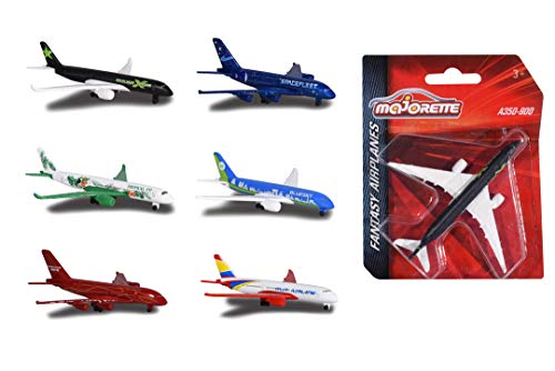 Majorette 212053120 Fantasy Airplane, Spielflugzeug, Miniaturflugzeug, Flugzeug aus Metall, Lieferung: 1 Stück, zufällige Auswahl, 13 cm