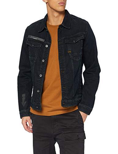 G-STAR RAW Mens Arc 3D Slim JKT Arrow Print AW Denim Jacket, Antic Dark Ink Blue B767-B815, Large