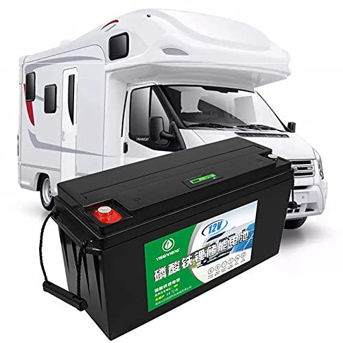 Batería para Barco, Batería para Caravana, 12V 150AH 180AH Batería de Ciclo Profundo de Hierro de Litio LiFePO4 de Alta Capacidad, con Pantalla de Energía, para Autocaravana, Casa Flotante,12v